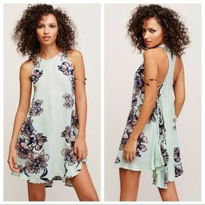 FREE PEOPLE PAINT THE SUN SLIP DRESS